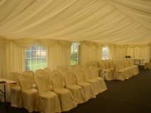 Custom Made Marquee Interior Linings