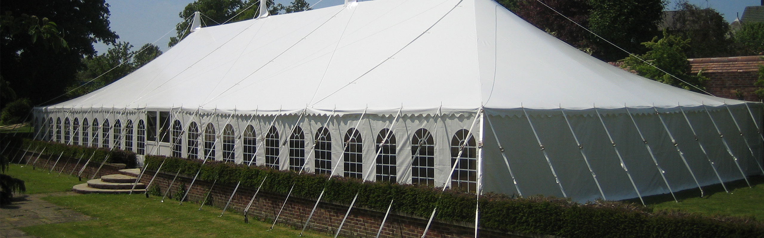 Hiring a marquee for a party